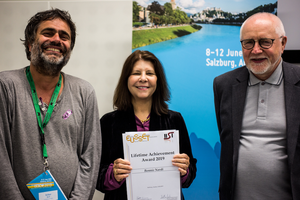 IISI-EUSSET Live Time Achievement Award 2019 to Bonnie Nardi